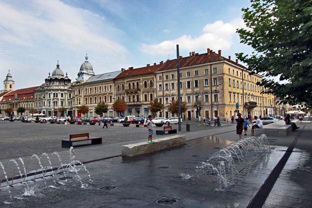 Romania-Cluj-Napoca-Unirii-Square