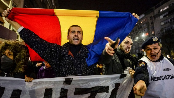 Romania Presidential Elections Protest