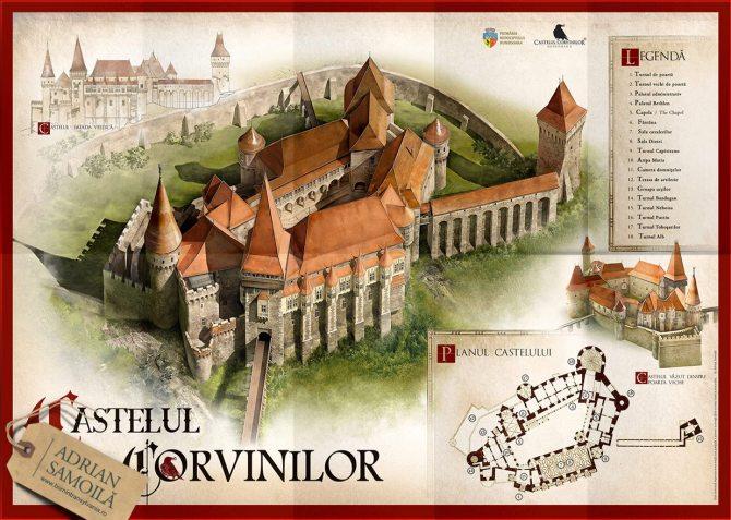CastelulCorvinilor_Plan